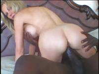 Hot blonde granny loves it when she gets a big black cock