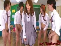 Eri Ouka Sweet Japanese teacher gangbang part5