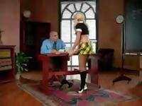 Blonde Madison Ivy is a naughty schoolgirl who gets fucked