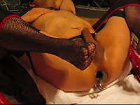 Nasty nurse Mistress stretches my ass