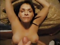 Teen Takes Big Huge Cumshot and she Loves it