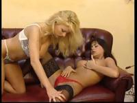 Blonde Monique Covet and another babe are licking and fingering pussy