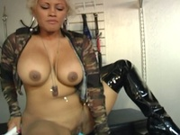 Obedient slave chick knows how to please her mistress
