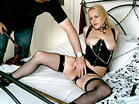 British Blonde Sub Whore Chained Up and Used