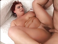 ELKE - mature 50+ hairy pussy creampie