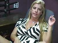 Joclyn Stone Office Milf With Hairy Bush Pussy Eating