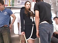 Gorgeous japanese babe have sex in train by airliner1